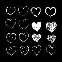 ícone de desenho de mão de coração vetor