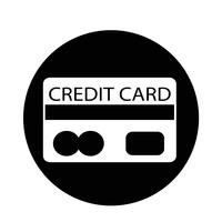 Ícone do cartão de crédito vetor
