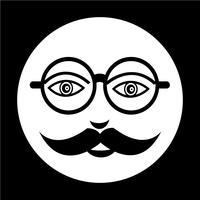 bigode cara cara ícone vetor