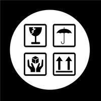 ícone frágil vetor
