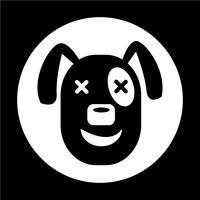 Ícone do cão vetor