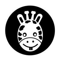 Ícone de girafa vetor