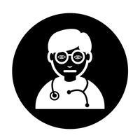 Doutor, ícone vetor