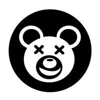 Ícone de urso vetor