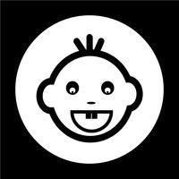 Ícone de rosto de bebê