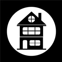Ícone de casa de imóveis vetor