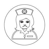Enfermeira, ícone vetor