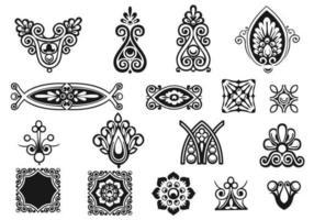 Pacote de vetores de ornamento vitoriano
