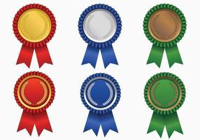 Pacote de vetores de fita de prêmio colorido brilhante