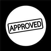 carimbo de texto aprovado vetor