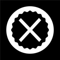 Cancelar ícone cruzado vetor