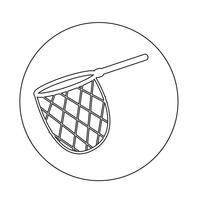 ícone de rede de caça de pesca vetor