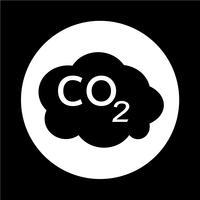 Ícone de CO2 vetor