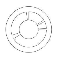 Simples, diagrama, gráfico, ícone vetor
