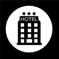 ícone do hotel vetor