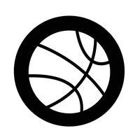 ícone de basquete vetor