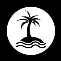 ícone da ilha vetor