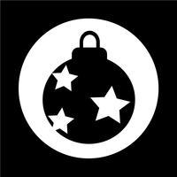 Ícone de bola de Natal vetor