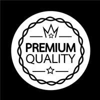 Ícone de crachá de qualidade Premium vetor