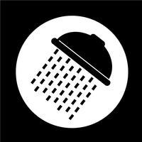 Ícone do chuveiro vetor