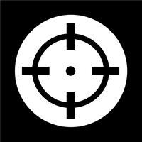 Ícone de alvo vetor