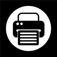 ícone da web de fax vetor