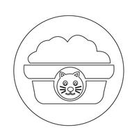 Ícone de comida de gato de estimação vetor