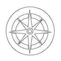 Ícone da bússola vetor