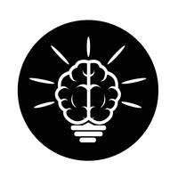 Ícone do cérebro vetor