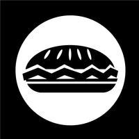 ícone de torta de comida vetor
