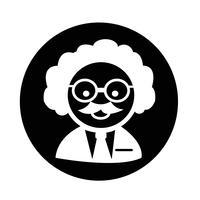 Ícone do professor cientista vetor