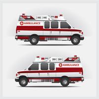 Ambulância serviço carro isolado ilustração vetorial