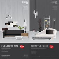 2 banner vertical móveis venda design modelo ilustração vetorial vetor