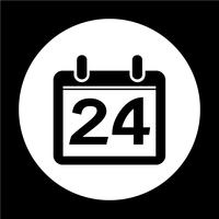 Sinal do ícone do calendário vetor