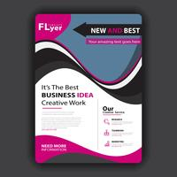 modelo de capa brochura vetor