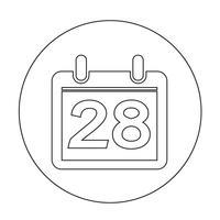 Sinal do ícone do calendário