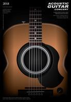 Guitarra Poster Poster Background Template Ilustração Vetor