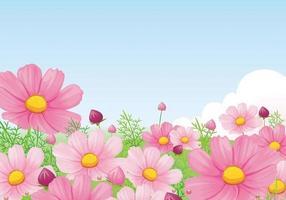 Vetor de papel de parede linda rosa Daisy