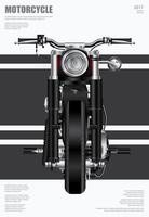 Poster Chopper Motorcycle isolado ilustração vetorial vetor