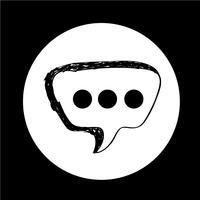 Ícone de bolha do discurso vetor
