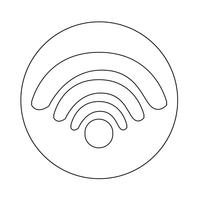 Sinal, de, wifi, ícone