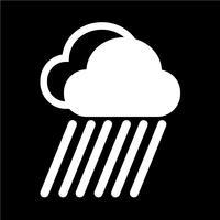 Ícone da chuva da nuvem vetor
