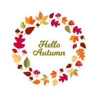 Olá armação de folhas de outono