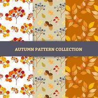 Mão desenhar padrões de outono