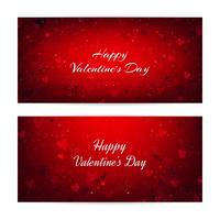 Dia dos Namorados turva banners com corações e bokeh