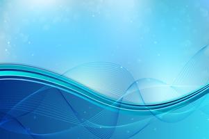 Fundo ondulado dinâmico azul vetor