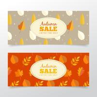 Banners de venda outono