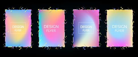 Quadro de vetor para gráficos de arte moderna de texto para descolados. fundo preto geométrico à moda do quadro dinâmico com ouro. elemento para cartões de visita design, convites, cartões de presente, folhetos e brochuras