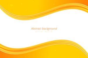 Fundo de onda amarela com espaço em branco para texto vetor
