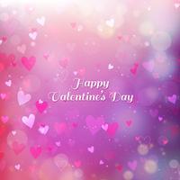 Fundo Dia dos Namorados com corações e bokeh